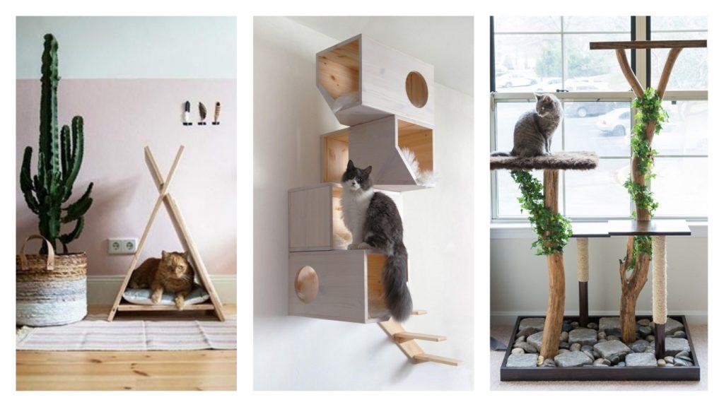 3 id es diy pour confectionner un arbre chat we love it. Black Bedroom Furniture Sets. Home Design Ideas