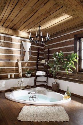 coin spa avec plantes et déco en bois